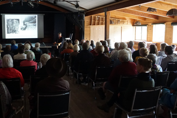 Mansons Hall was full during Judith Williams's book launch.