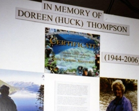Memorial To Doreen Thompson